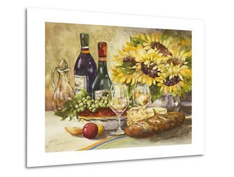 Wine and Sunflowers-Jerianne Van Dijk-Metal Print