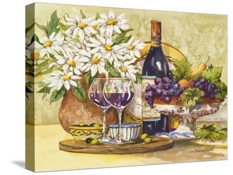 Wine & Daisies-Jerianne Van Dijk-Stretched Canvas Print