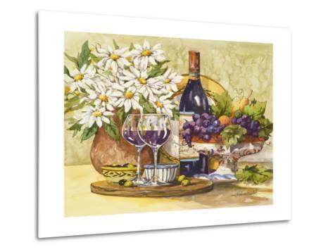 Wine and Daisies-Jerianne Van Dijk-Metal Print