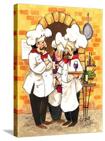 Wine Chefs-Jerianne Van Dijk-Stretched Canvas Print
