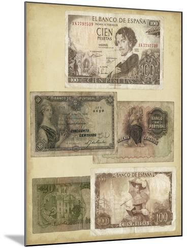 Antique Currency I-Vision Studio-Mounted Art Print