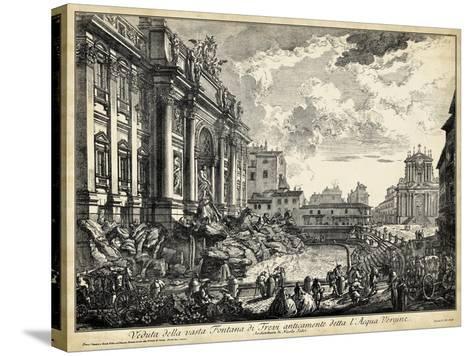 Veduta Della Vasta Fontana Di Trevi-Piranesi-Stretched Canvas Print