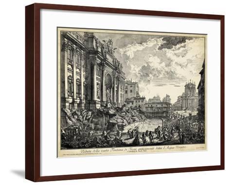 Veduta Della Vasta Fontana Di Trevi-Piranesi-Framed Art Print