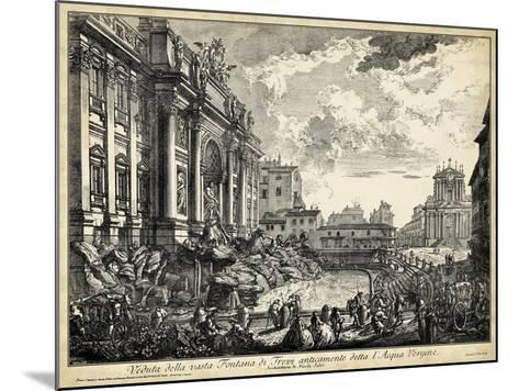 Veduta Della Vasta Fontana Di Trevi-Piranesi-Mounted Art Print