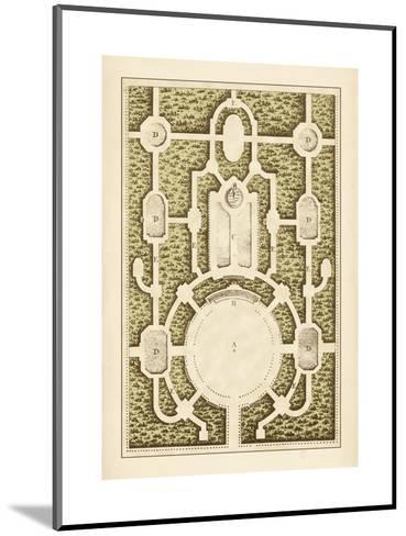 Garden Maze I-Blondel-Mounted Art Print