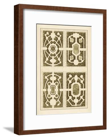 Garden Maze II-Blondel-Framed Art Print
