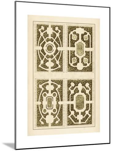 Garden Maze II-Blondel-Mounted Art Print