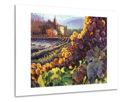 Tuscany Harvest-Clif Hadfield-Metal Print