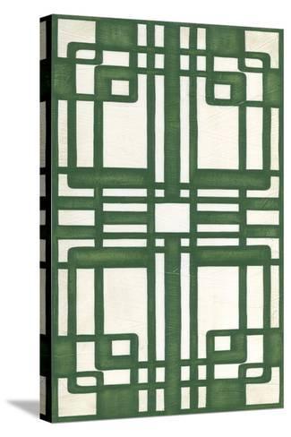 Non-Embellish Emerald Deco Panel II-Erica J^ Vess-Stretched Canvas Print