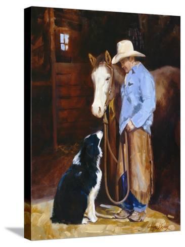 Hey, Buddy-Carolyne Hawley-Stretched Canvas Print