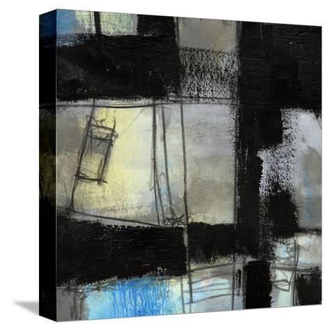 Black on Blue IV-Jennifer Goldberger-Stretched Canvas Print