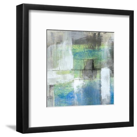 White on Blue I-Jennifer Goldberger-Framed Art Print