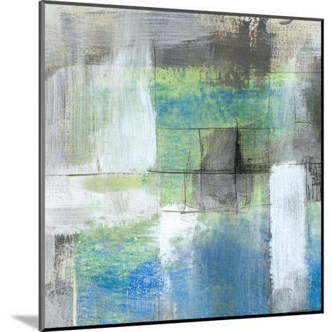 White on Blue I-Jennifer Goldberger-Mounted Art Print