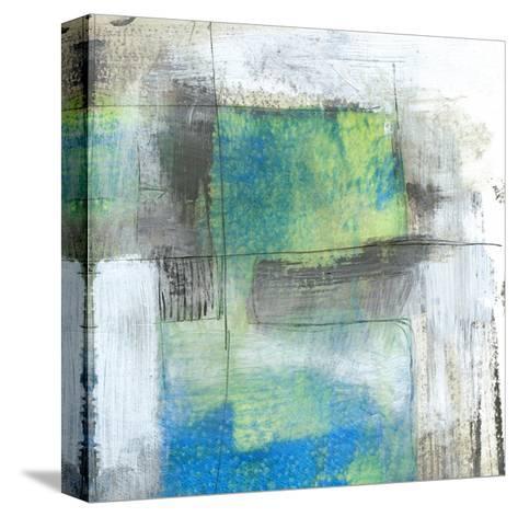 White on Blue II-Jennifer Goldberger-Stretched Canvas Print