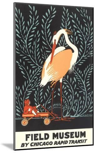 Poster for Field Museum with Giant Heron--Mounted Giclee Print