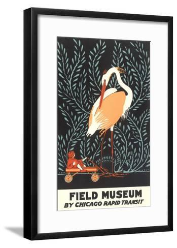 Poster for Field Museum with Giant Heron--Framed Art Print