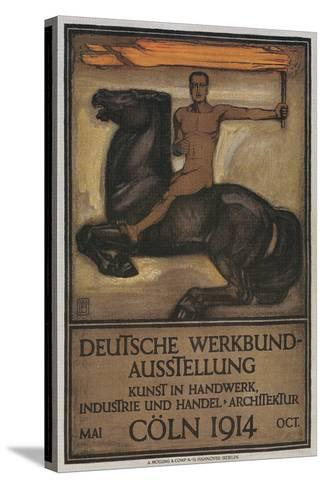 Poster for German Domestic Arts Exhibition--Stretched Canvas Print