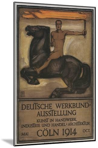 Poster for German Domestic Arts Exhibition--Mounted Giclee Print