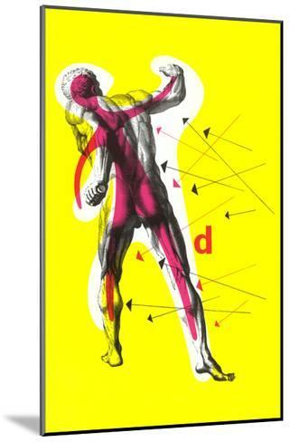 Poster of Arrows Pointing to Muscles--Mounted Giclee Print