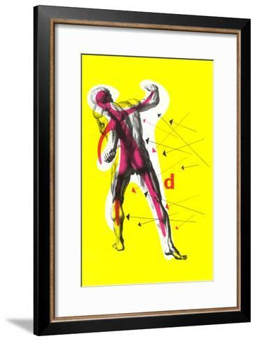 Poster of Arrows Pointing to Muscles--Framed Art Print
