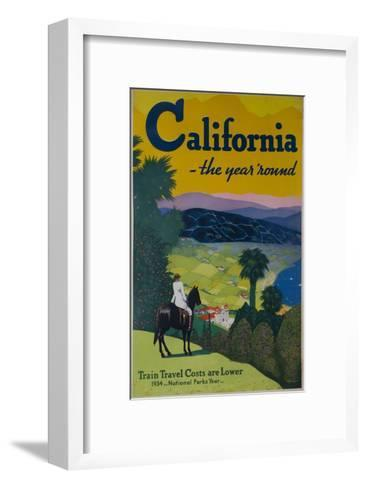 California the Year Round, Travel Poster--Framed Art Print