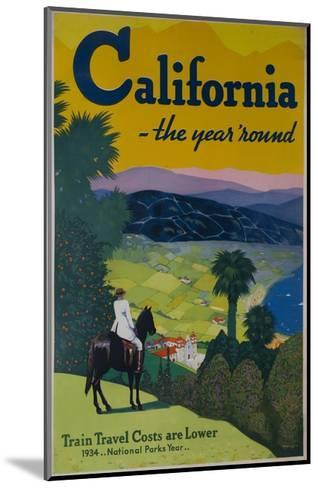 California the Year Round, Travel Poster--Mounted Giclee Print