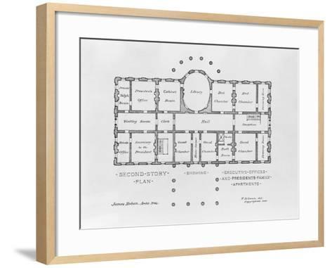 Floor Plan of the White House--Framed Art Print