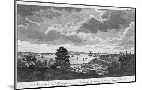 A View of New York, Governors Island, the River from Long Island-A. Hamilton, Jr.-Mounted Giclee Print