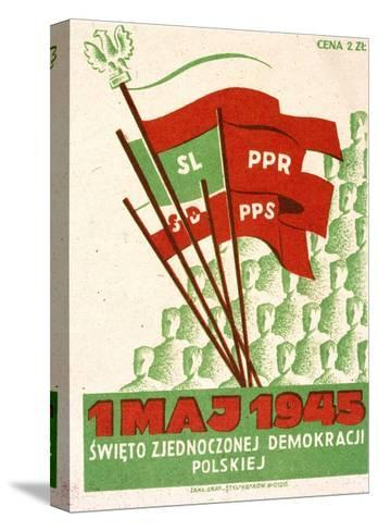 Polish Postcard from May Day 1945--Stretched Canvas Print