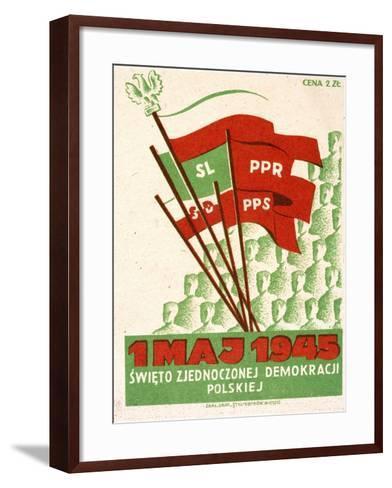 Polish Postcard from May Day 1945--Framed Art Print