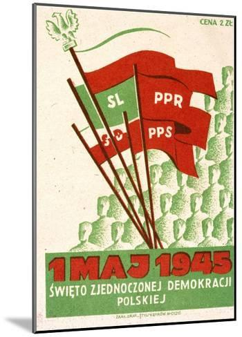 Polish Postcard from May Day 1945--Mounted Giclee Print