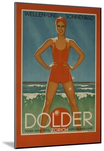 Dolder Grand Hotel Zurich Switzerland Travel Poster Wellen-Und Sonnenbad--Mounted Giclee Print