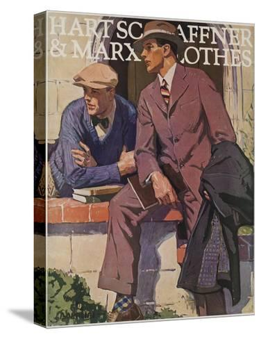 Hart Schaffner and Marx American Clothes Adverising Poster College Boys--Stretched Canvas Print