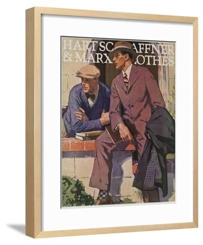 Hart Schaffner and Marx American Clothes Adverising Poster College Boys--Framed Art Print