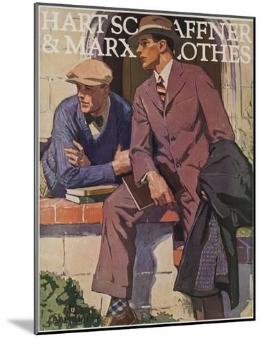 Hart Schaffner and Marx American Clothes Adverising Poster College Boys--Mounted Giclee Print