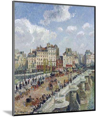 The Pont-Neuf, Paris-Camille Pissarro-Mounted Giclee Print