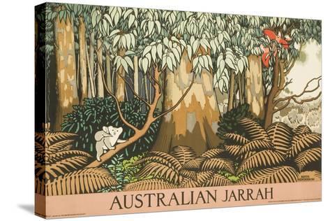 Australian Jarrah Travel Poster--Stretched Canvas Print