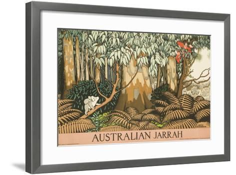 Australian Jarrah Travel Poster--Framed Art Print