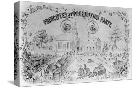 """American Lithograph """"Principles of the Prohibition Party""""--Stretched Canvas Print"""