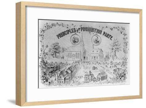 """American Lithograph """"Principles of the Prohibition Party""""--Framed Art Print"""
