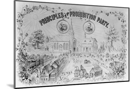 """American Lithograph """"Principles of the Prohibition Party""""--Mounted Giclee Print"""