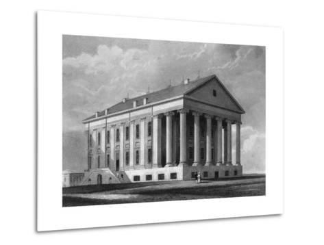 "Engraving ""Capitol, Richmond, Virginia""--Metal Print"