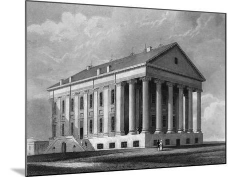 "Engraving ""Capitol, Richmond, Virginia""--Mounted Giclee Print"