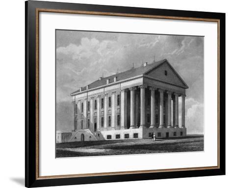 "Engraving ""Capitol, Richmond, Virginia""--Framed Art Print"