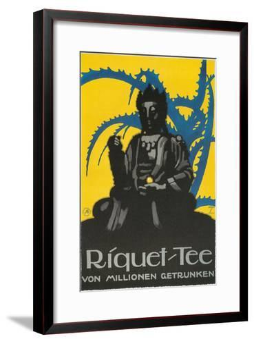 German Advertisement for Riquet Tea, Buddha and Thorn Bush--Framed Art Print