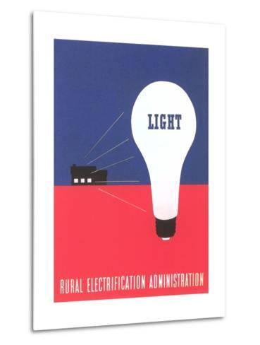 Rural Electrification Administration Poster--Metal Print