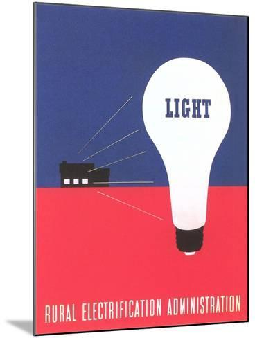 Rural Electrification Administration Poster--Mounted Giclee Print