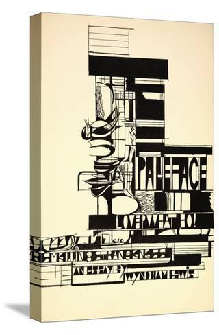 Design for Paleface-Wyndham Lewis-Stretched Canvas Print