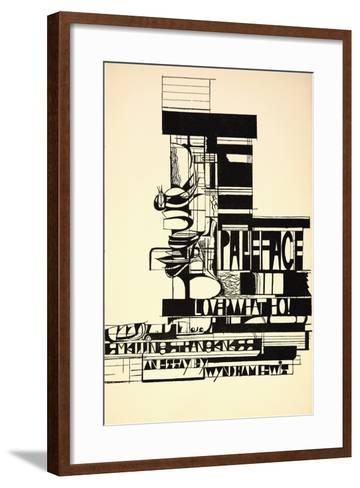 Design for Paleface-Wyndham Lewis-Framed Art Print