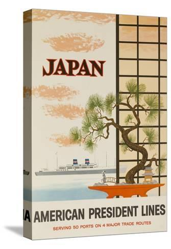 Japan American President Lines Cruise Poster--Stretched Canvas Print